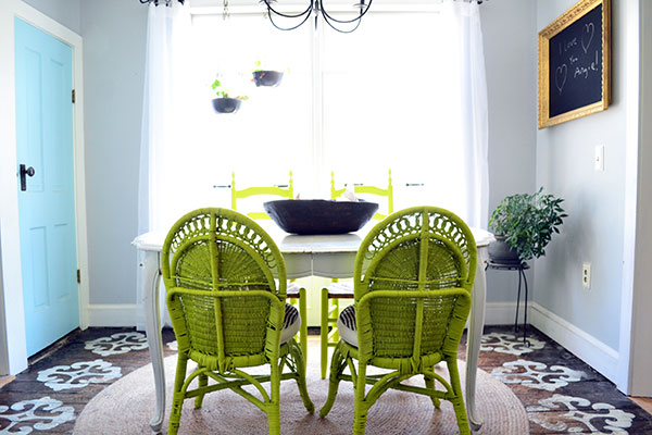 Lime Wicker Dining Chairs