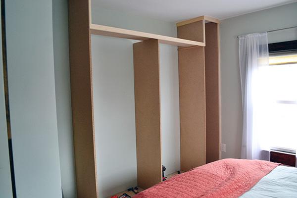 Installing Master Closet Sides
