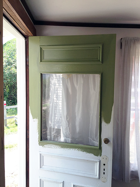 Green Door Painting In Progress