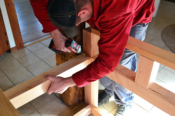 Screwing Together The Kitchen Island Framing