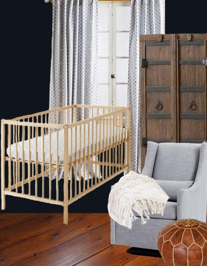 A gender neutral base for a nursery design plan