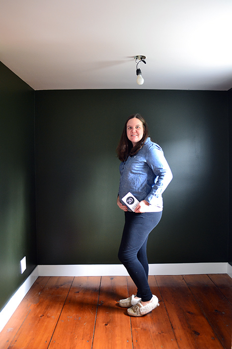 Nursery Progress At 20 Weeks With A Dark Painted Room