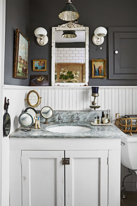 Bathroom design inspiration image from country living for Country living bathroom designs