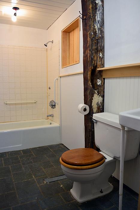 Bathroom renovation progress in December