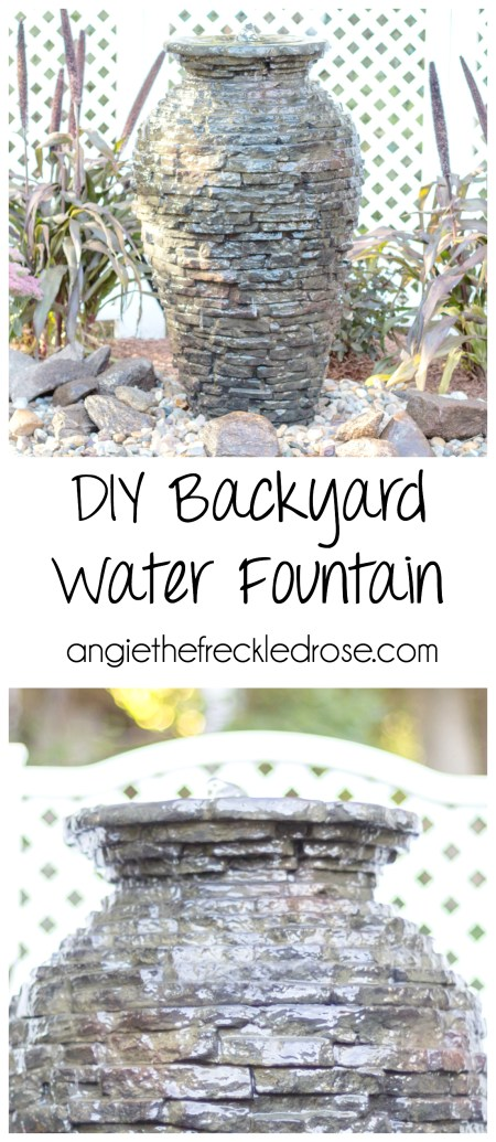 DIY Backyard Water Fountain | angiethefreckledrose.com