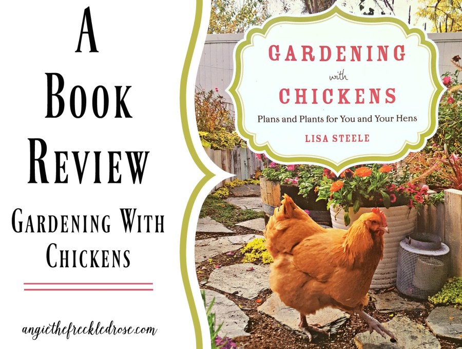 A Book Review: Gardening With Chickens   Angie The Freckled Rose