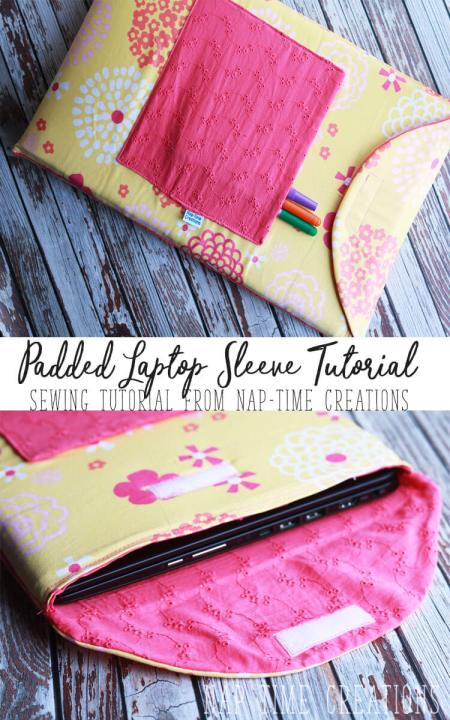 Padded Laptop Sleeve - Nap Time Creations