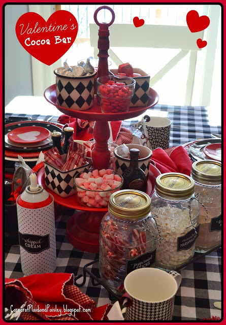 Valentine's Hot Cocoa Bar - Corner Of Plaid and Paisley