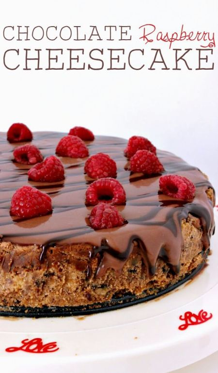 Chocolate Raspberry Cheesecake - Growing Up Gabel