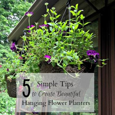 5 Simple Tips to Create Beautiful Hanging Flower Planters - Hearth and Vine