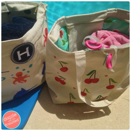 How To DIY A Waterproof Swim Bag | Dazzle While Frazzled