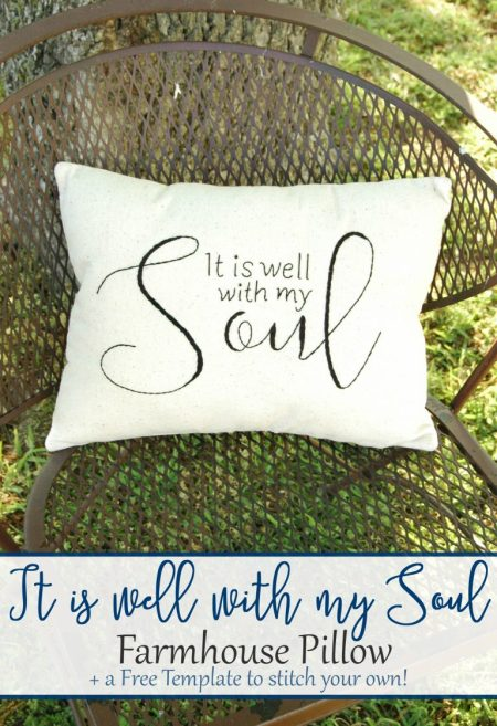 It Is Well With My Soul Pillow | Busy Being Jennifer