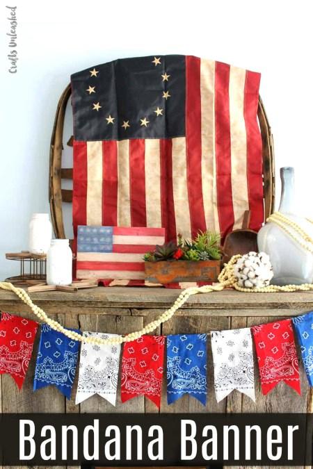 Patriotic Bandana Banner | Crafts Unleashed