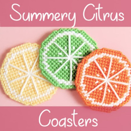 Summery Citrus Coasters | Strings Away!