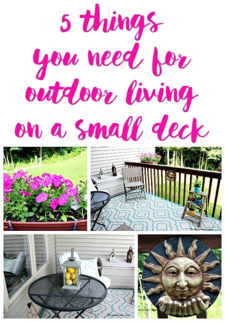 5 Items You Need for Outdoor Living on a Small Deck | The Red Painted Cottage