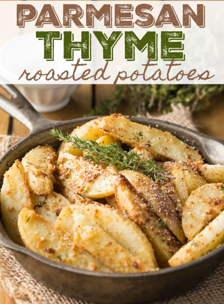 Parmesan Thyme Roasted Potatoes | Simply Stacie