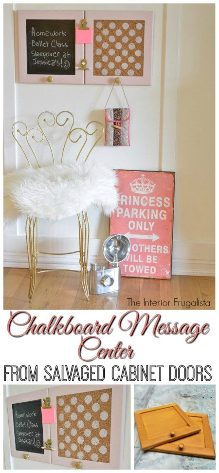 DIY Chalkboard Message Center | Interior Frugalista