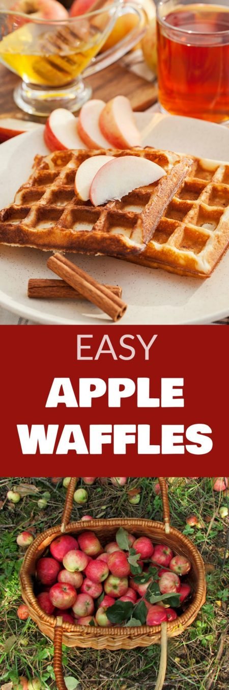 Easy Apple Waffles | Brooklyn Farm Girl