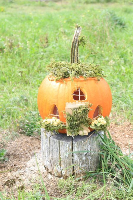 Pumpkin Fairy House | The Usual Mayhem