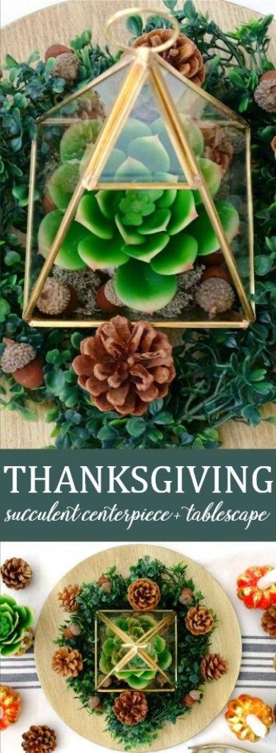 Thanksgiving Succulent Centerpiece | Living La Vida Holoka