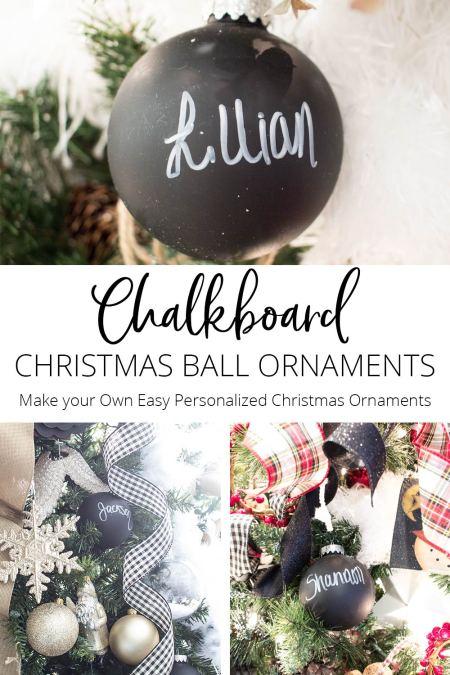 Chalkboard Christmas Ornaments   AKA Design