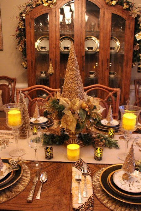Glam & Glitz for Christmas Dining   Designs By Pinky