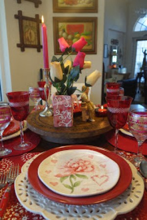 Valentine's Day Tablescape | Christine's Home & Travel Adventures