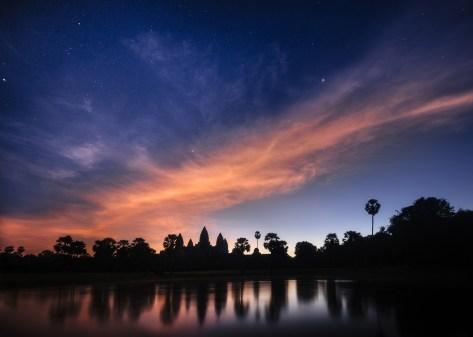 Stars above Angkor Wat