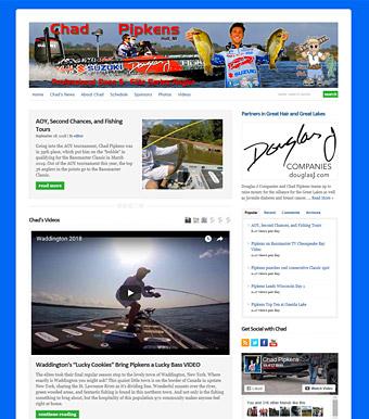 anglerhosting com website design
