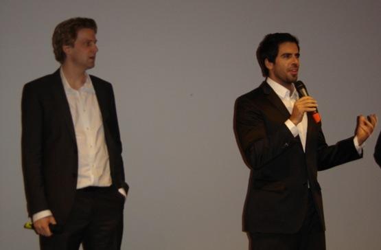Daniel Stamm (réalisateur) et Eli Roth (producteur) du Dernier Exorcisme