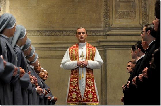 """set of """"The young Pope"""" by Paolo Sorrentino. 10/23/2015 sc. 108 ep. 1 In the picture Jude Law. Photo by Gianni Fiorito"""