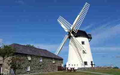 Historic Llynnon Mill, last working Anglesey windmill