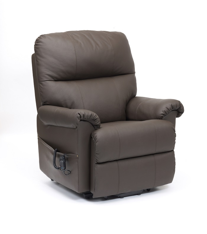 Borg Leather Rise  Recline Chair