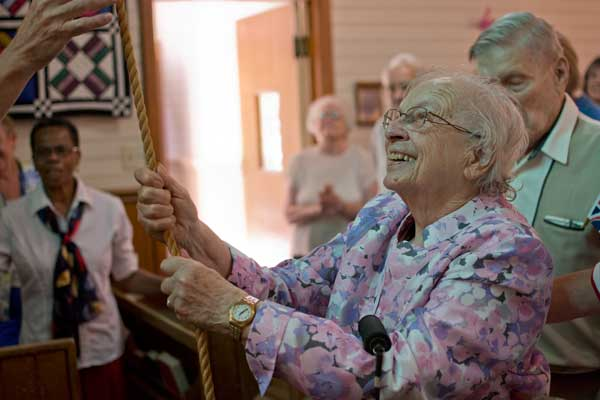 Jean Northey -- our longest and faithful member of the parish, born two years prior to Her Majesty
