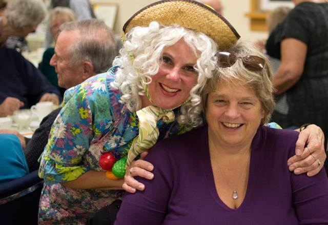 'Breakfast Betty' herself (aka Sue Swankie) with Mary Lou Wright, Principal Buckhorn Public School
