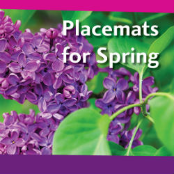 Spring placemat image