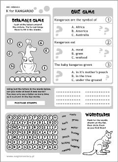 English Abc Animals For Kids