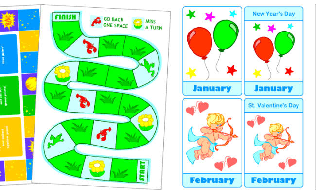 Printable English Games For Kids Board Games With Cards