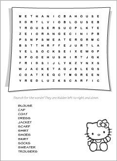 Clothes vocabulary for kids learning English  Spelling game