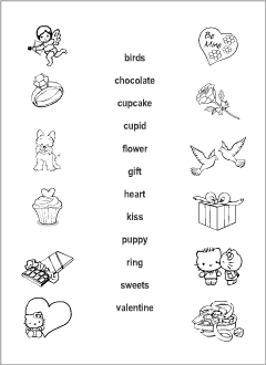 Valentine's Day vocabulary for kids learning English