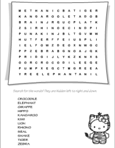 Wordsearches for teaching english to kids wordsearch worksheet also wild animals vocabulary learning printable resources rh anglomaniacy