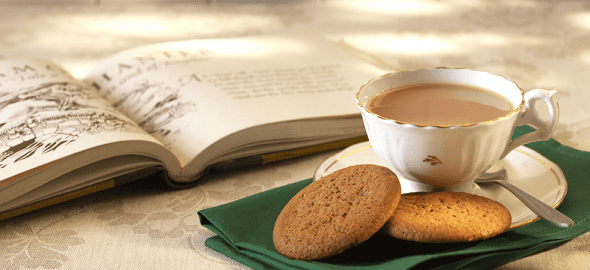Tea Book and Biscuits