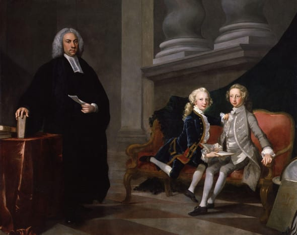 George III on the right.