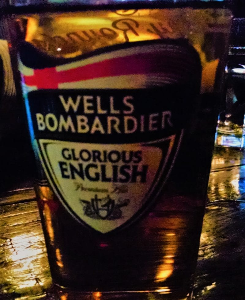 A pint of Wells Bombardier