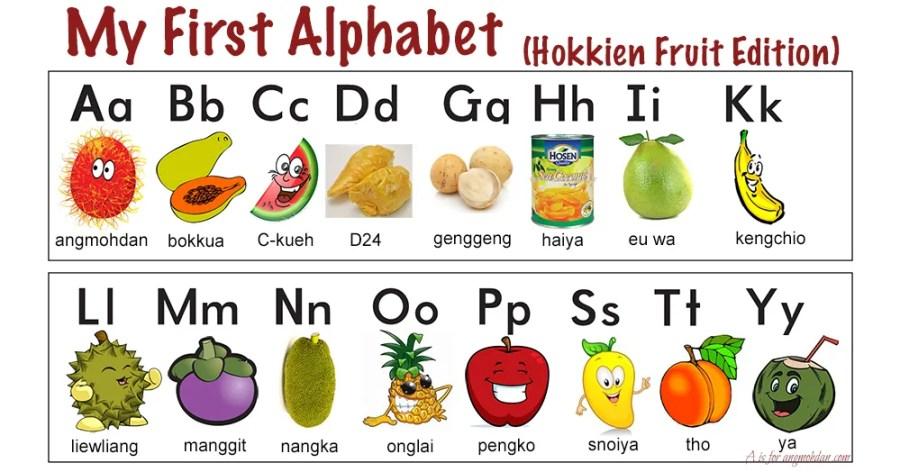 Hokkien Fruit Alphabet