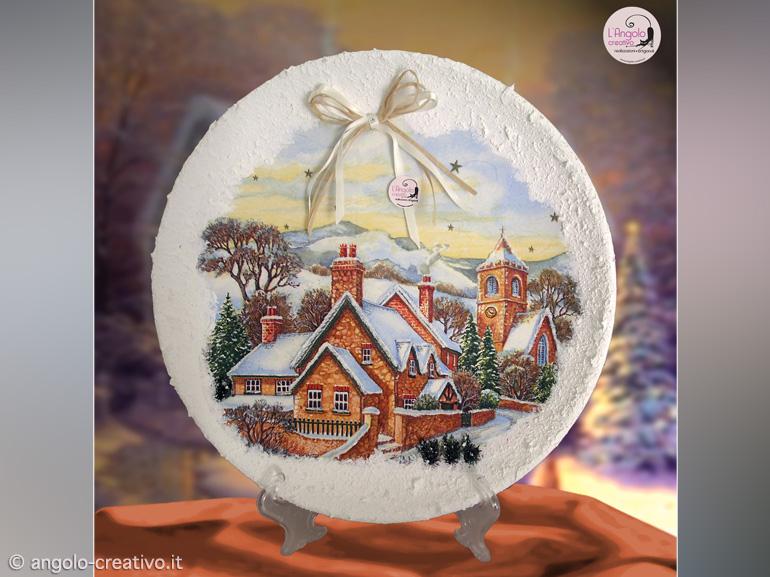 Visualizza altre idee su piatti dipinti, dipinti, piatti. Piatto Di Natale In Ceramica Angolo Creativo Natale