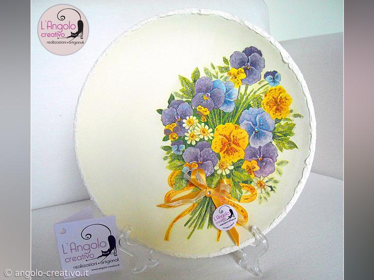 Teste di moro, vasi, piatti, home decor. Piatto In Terracotta Bouquet Angolo Creativo Bomboniere Per Matrimonio