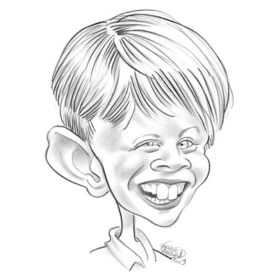 Ritratto caricatura bianco e nero  idea regalo originale