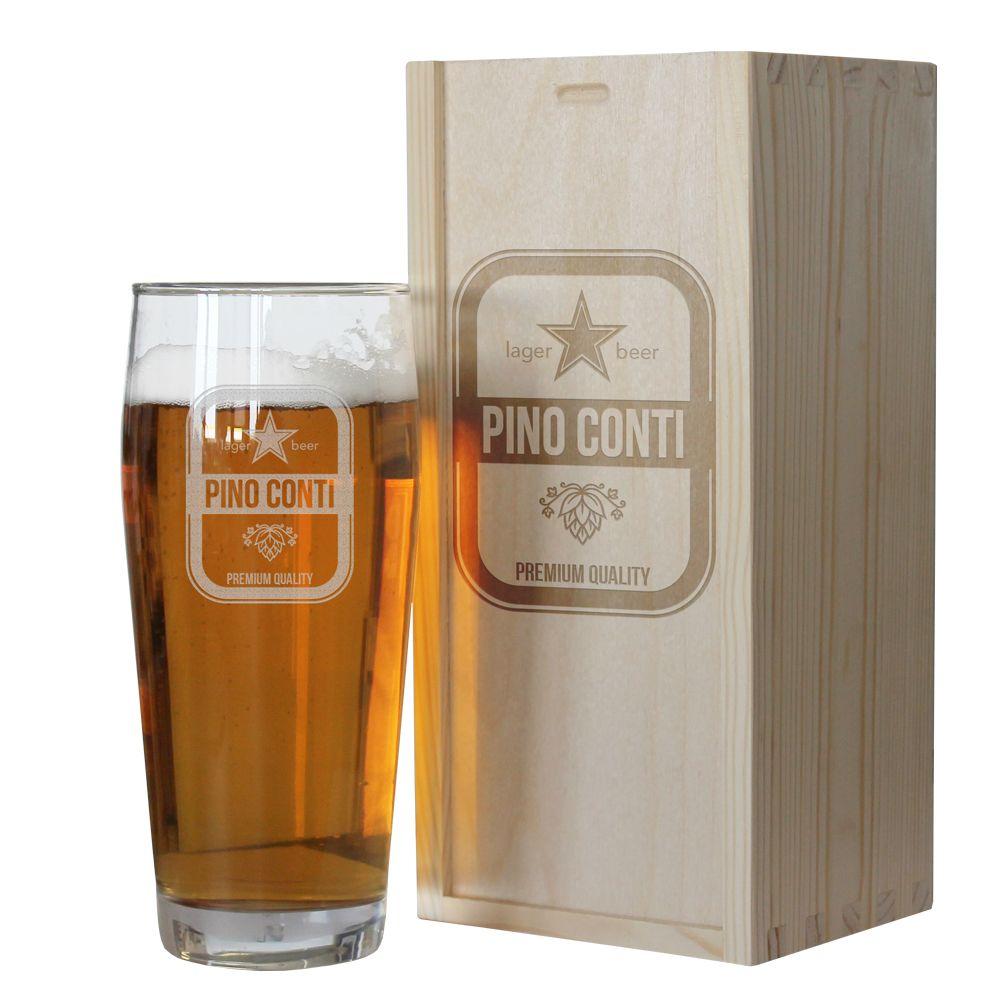 Bicchiere da birra con nome personalizzato  idea regalo originale  AngolodelRegalo