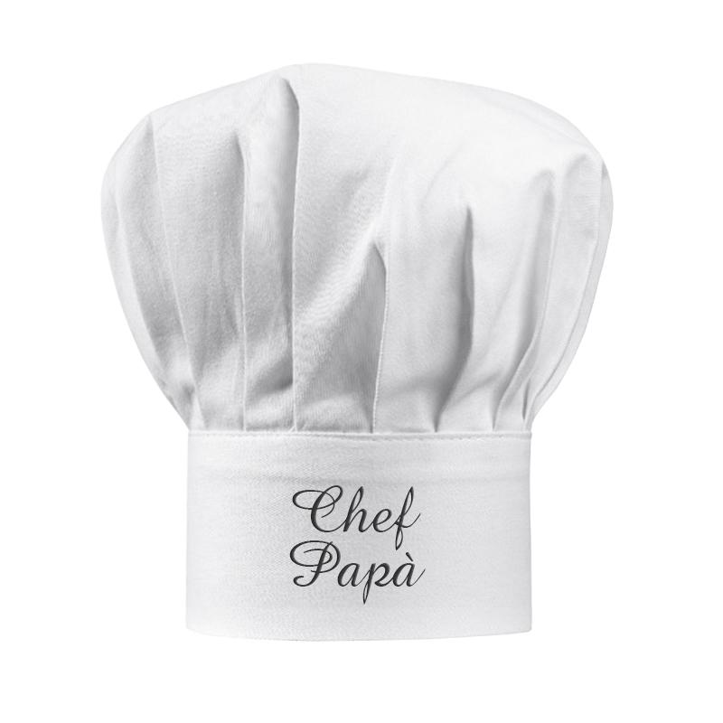 Cappello da chef bianco personalizzato  idea regalo